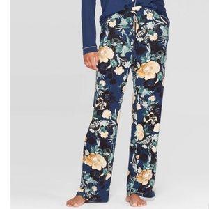 Floral PJ Pants Tassel Drawstring Elastic Waist